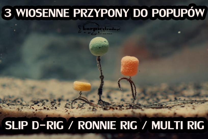 PRZYPONY POP-UP SLIP D-RIG ROONIE RIG MULTI RIG