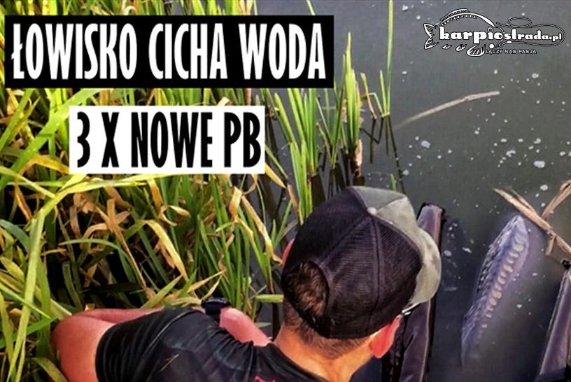 ŁOWISKO CICHA WODA 3X NOWE PB | WĘDKARSTWO POLSKA